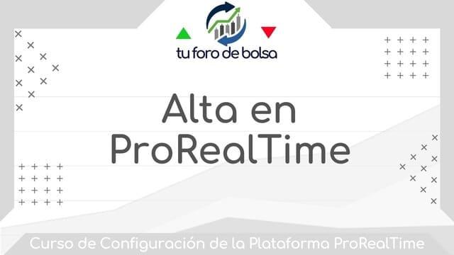 Alta en ProRealTime