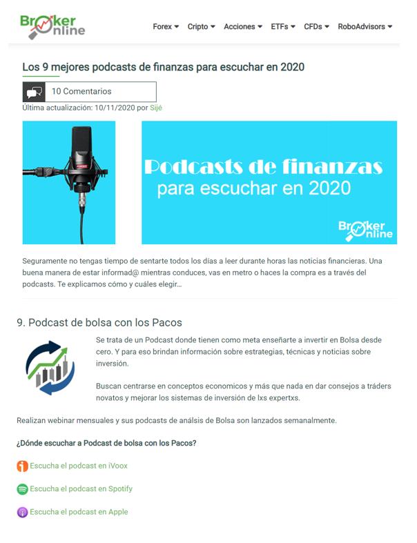 Premio broker online
