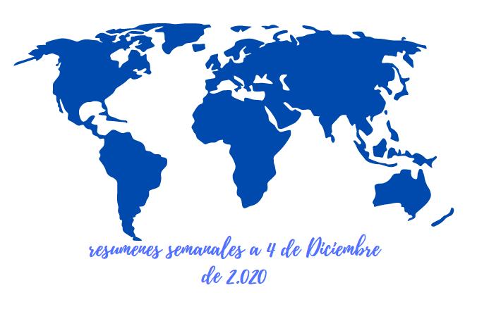 RESUMEN SEMANAL INDICES USA A 4 DICIEMBRE 2.020